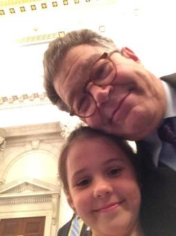 Left to right: Sofie Arbeen and Senator Al Franken
