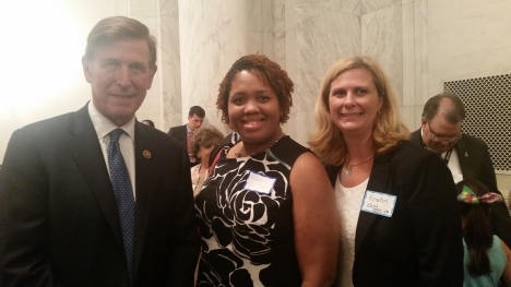 Congressman Don Beyer, Nichole Drummond, Deputy Director PEATC and Kristin Kane, Information Specialist PEATC